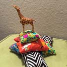 picture of giraffe on bean bags